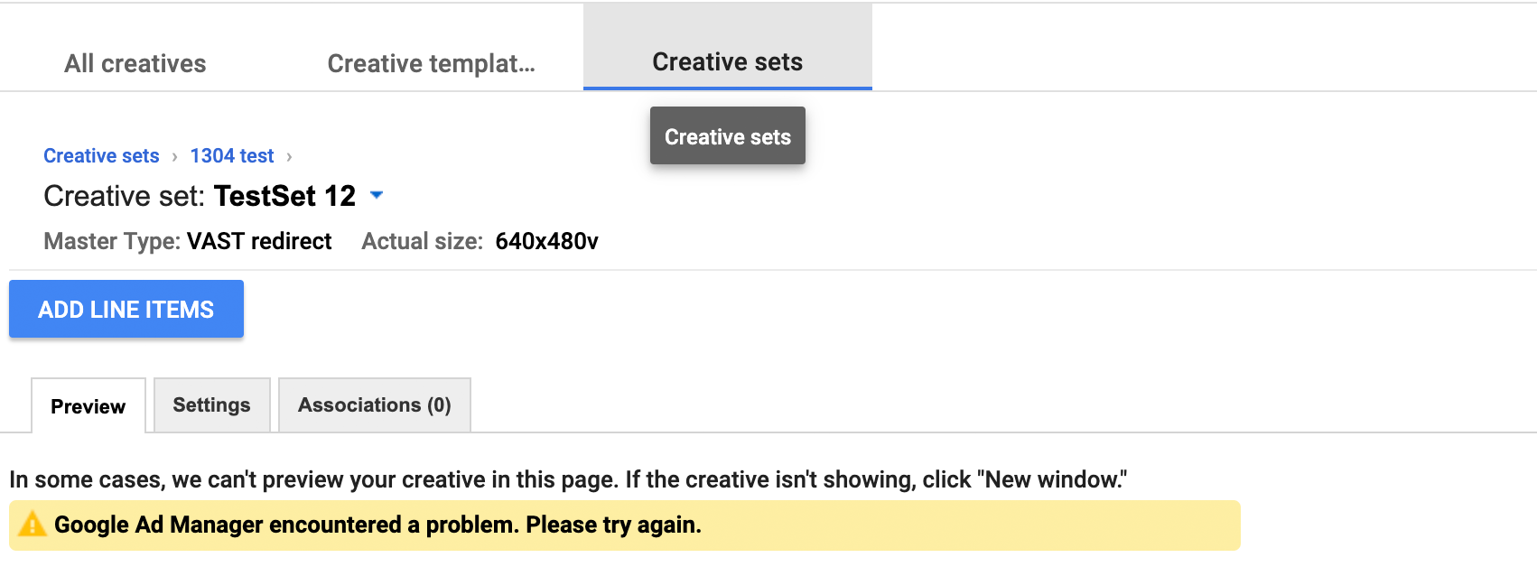 Google Ad Manager Creative Sets Redirect